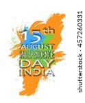 independence day india  white... | Shutterstock .eps vector #457260331