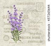 the lavender elegant card.... | Shutterstock . vector #457265644