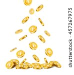 background with falling golden... | Shutterstock .eps vector #457267975