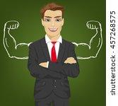 man teacher  salesman or... | Shutterstock .eps vector #457268575