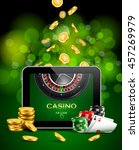 casino background with tablet ... | Shutterstock .eps vector #457269979