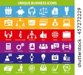 set of 36 unique business icons. | Shutterstock .eps vector #457272229