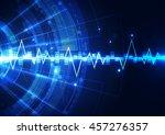 vector digital technology... | Shutterstock .eps vector #457276357
