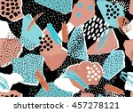 abstract torn paper and... | Shutterstock .eps vector #457278121