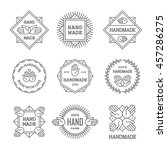 outline handmade labels  signs... | Shutterstock .eps vector #457286275