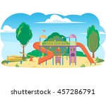 children's playground in a city ... | Shutterstock .eps vector #457286791