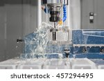 high precision cnc machining... | Shutterstock . vector #457294495