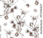 vintage vector bouquet of twigs ... | Shutterstock .eps vector #457296427
