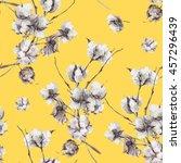 vintage vector bouquet of twigs ... | Shutterstock .eps vector #457296439