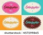 vector cyrillic inscription  in ... | Shutterstock .eps vector #457299865