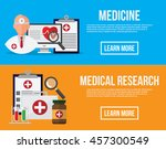 medical banners. healthcare ... | Shutterstock .eps vector #457300549