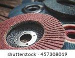 grinder discs | Shutterstock . vector #457308019