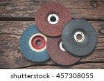 grinder discs | Shutterstock . vector #457308055