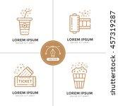 cinema line icons set. vector... | Shutterstock .eps vector #457319287