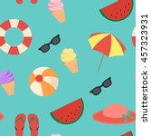 summer pattern with simple... | Shutterstock .eps vector #457323931