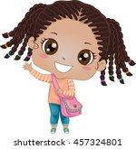 illustration of an african girl ... | Shutterstock .eps vector #457324801