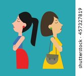 woman turning their back to... | Shutterstock .eps vector #457327819