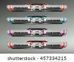 scoreboard sport template for... | Shutterstock .eps vector #457334215