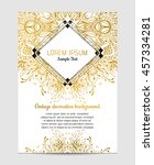 invitation with hand drawn... | Shutterstock .eps vector #457334281