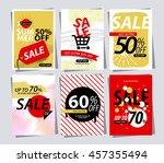 set of sale banner poster tag... | Shutterstock .eps vector #457355494