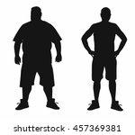 vector concept  fat overweight... | Shutterstock .eps vector #457369381