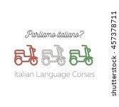 logo for italian language... | Shutterstock .eps vector #457378711