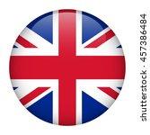 uk flag glossy button. | Shutterstock .eps vector #457386484