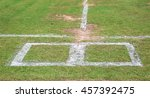 football field substitution... | Shutterstock . vector #457392475