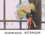 a beautiful bouquet of flowers... | Shutterstock . vector #457394209