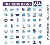 training icons | Shutterstock .eps vector #457394545
