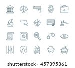 crime and law vector icons set | Shutterstock .eps vector #457395361