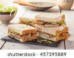 katsu sando  a popular japanese ... | Shutterstock . vector #457395889