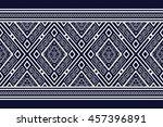 geometric ethnic pattern design ... | Shutterstock .eps vector #457396891