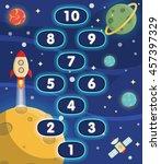 lovely children activity play...   Shutterstock .eps vector #457397329