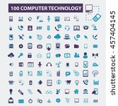 computer technology icons | Shutterstock .eps vector #457404145