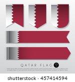 Set Of World Flag Ribbon...