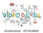 modern thin line banner of... | Shutterstock .eps vector #457416865