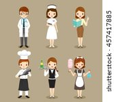 people with different... | Shutterstock .eps vector #457417885