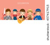 man  people with different... | Shutterstock .eps vector #457417915