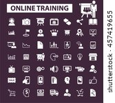 online training icons | Shutterstock .eps vector #457419655