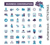 business conversation icons | Shutterstock .eps vector #457419661