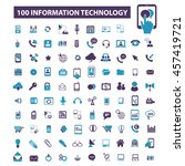 information technology icons | Shutterstock .eps vector #457419721