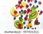 Fresh Summer Berries And Fruit...