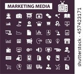 marketing media icons | Shutterstock .eps vector #457423171