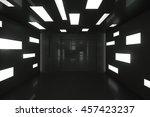 abstract empty black interior... | Shutterstock . vector #457423237