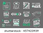 vector set of back to school ... | Shutterstock .eps vector #457423939