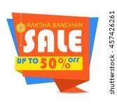 happy raksha bandhan  indian... | Shutterstock .eps vector #457426261