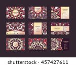 business cards big set. vector... | Shutterstock .eps vector #457427611