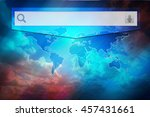 search icon  voice icon  world... | Shutterstock . vector #457431661