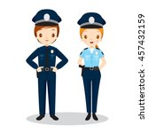 policeman and policewoman ... | Shutterstock .eps vector #457432159